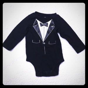 🎩 Infant Boy Tuxedo Onesie 9 mo